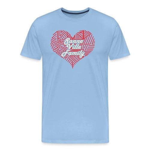SanneVilleFamily Hjerte Logo - Herre premium T-shirt