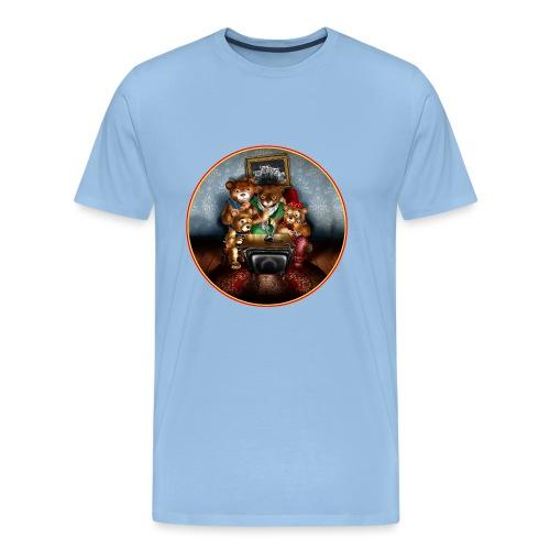 Bears watching TV - Men's Premium T-Shirt