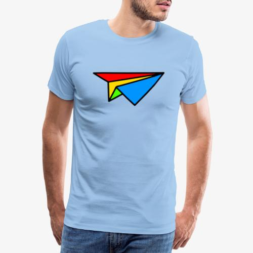 Avion Origami en couleur - T-shirt Premium Homme