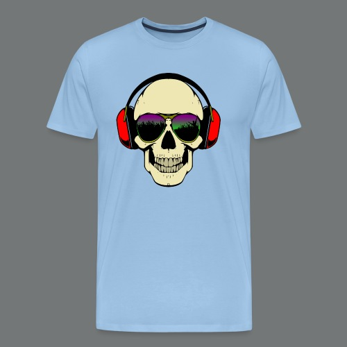 skull dj - Men's Premium T-Shirt