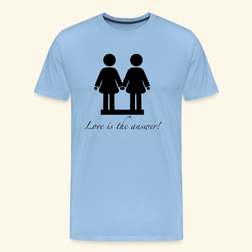 Frau liebt Frau Variante Schwarz - Männer Premium T-Shirt