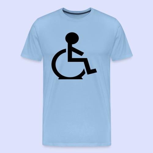 Rolstoel gebruiker met platte band - Mannen Premium T-shirt