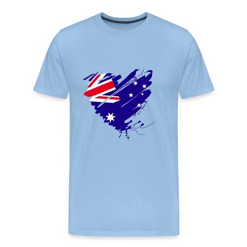 Australien Sydney Kontinent Grunge Herz Fahne - Männer Premium T-Shirt