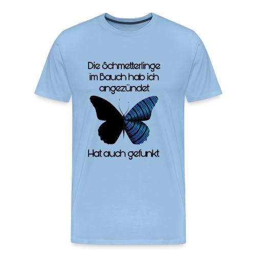 Schmetterlinge Im Bauch - Männer Premium T-Shirt