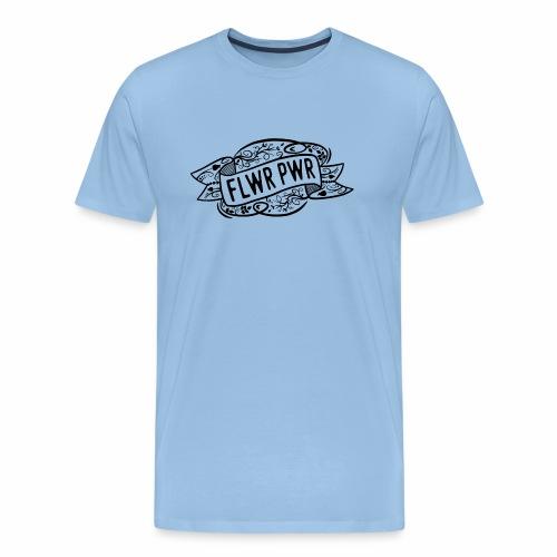 FlwrPwr Banner Blumen Design - Männer Premium T-Shirt