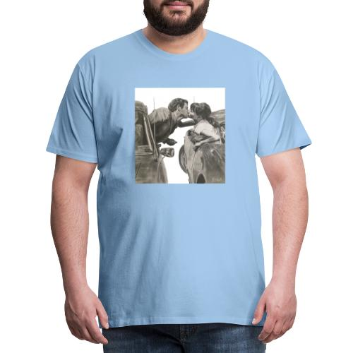 Travel fondo blanco - Camiseta premium hombre