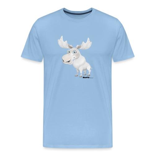 Albino elg - Herre premium T-shirt