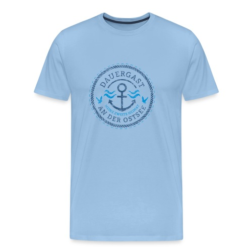 Ich bin Dauergast an der Ostsee - Männer Premium T-Shirt