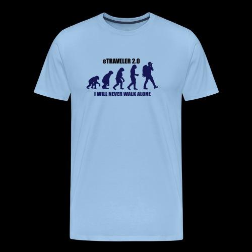I WILL NEVER WALK ALONE - Men's Premium T-Shirt