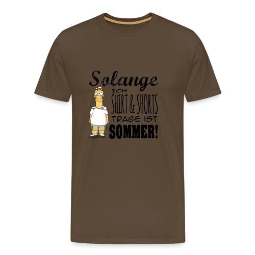 Sommer schwarz - Männer Premium T-Shirt