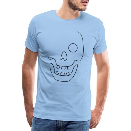 Dödskalle Kontur - Premium-T-shirt herr