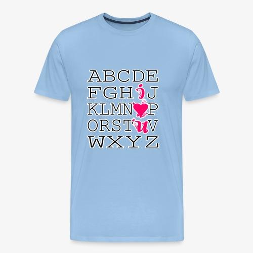 Liebesalphabet - Männer Premium T-Shirt
