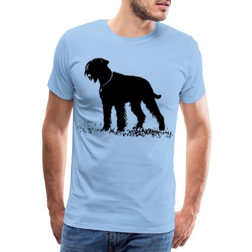Riesenschnauzer / Schnauzer Hunde Design Geschenk - Männer Premium T-Shirt