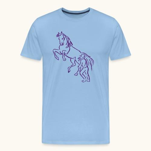 Rising Horse Floor Work cadeau amour fierté - T-shirt Premium Homme