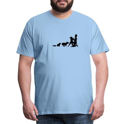 Französische Bulldoge EVOLUTION - Männer Premium T-Shirt