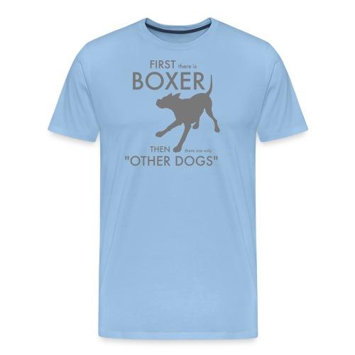 Bella Boxer Dog - Premium-T-shirt herr