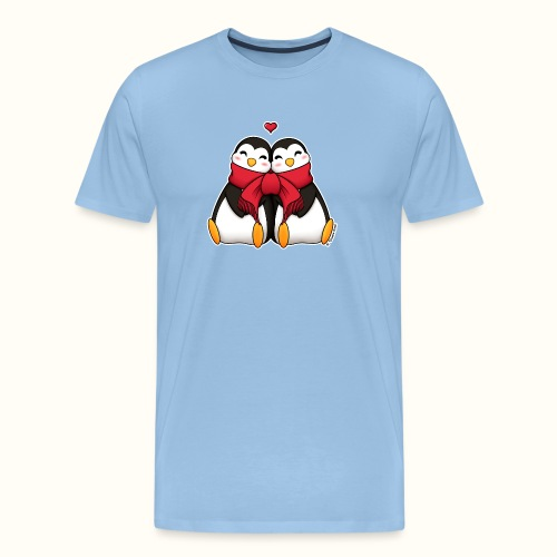 Pinguini innamorati - Maglietta Premium da uomo