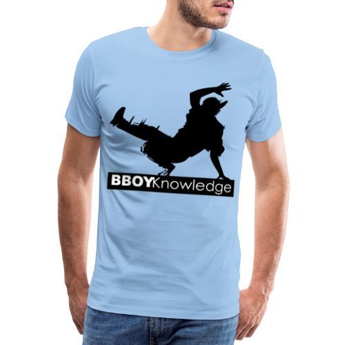 Bboy knowledge noir & blanc - T-shirt Premium Homme