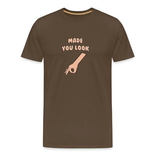 Made You Look Circle Game - Men's Premium T-Shirt