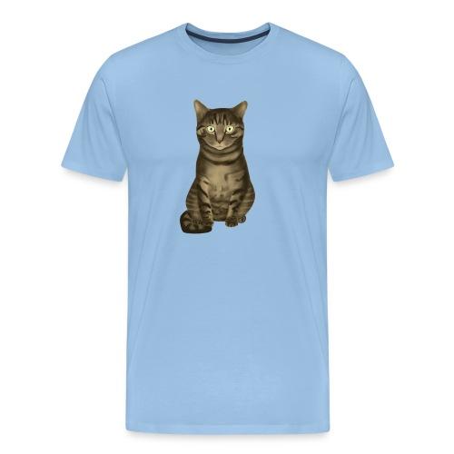 Domestic Brown Tabby Cat - Mannen Premium T-shirt