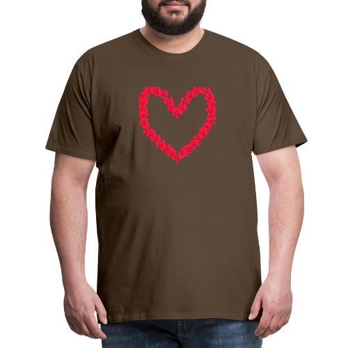 Ketoneilikkasydän - Miesten premium t-paita