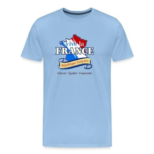 vive la France Frankreich République Française - Men's Premium T-Shirt