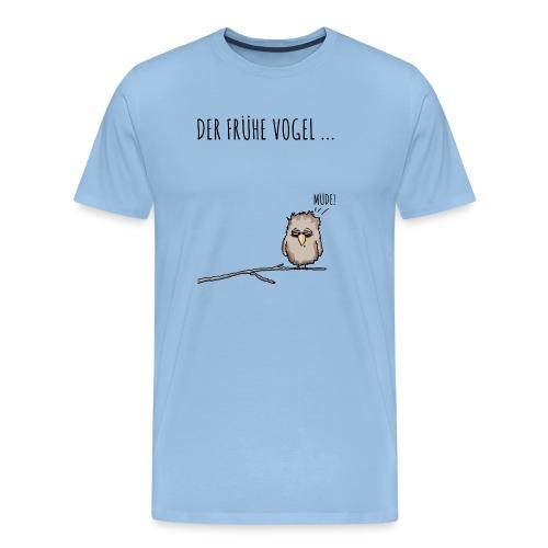 Der fruehe Vogel schwarz - Männer Premium T-Shirt