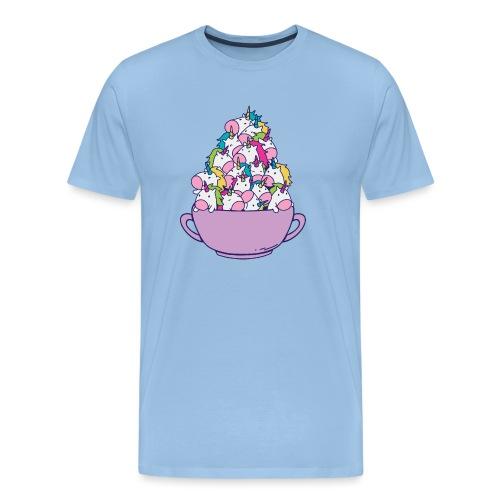 Taza llena de unicornios - Camiseta premium hombre