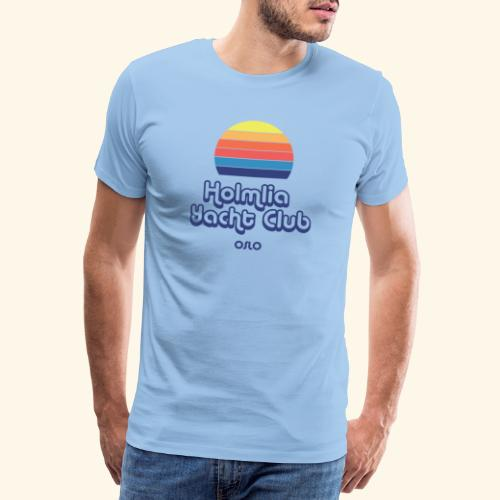 Holmlia Yacht Club midnight hour - Premium T-skjorte for menn