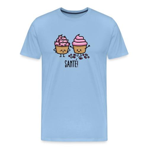 Santé éternuement cupcakes saupoudres cupcake - T-shirt Premium Homme