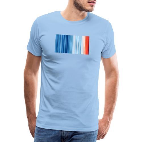 Klimawandel - Warming Stripes - Wärmestreifen - Männer Premium T-Shirt