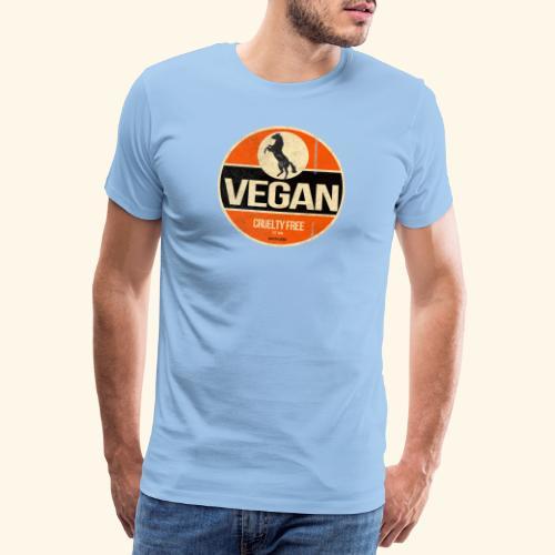 VEGAN Prancing Horse - Men's Premium T-Shirt