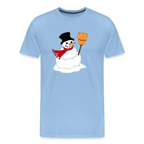 Snemand m. kost - Herre premium T-shirt