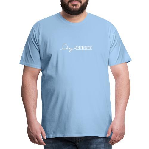 DP Logo White - Herre premium T-shirt