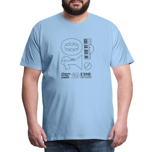 ESME Anniversary Simple Design Schwartz - Männer Premium T-Shirt