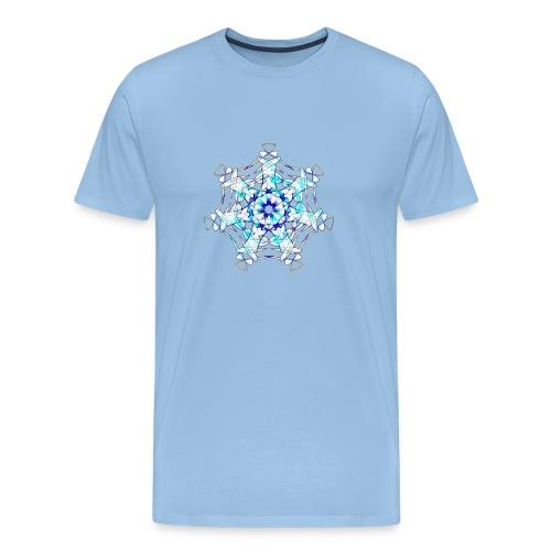 Mandala Eiskristall - Männer Premium T-Shirt