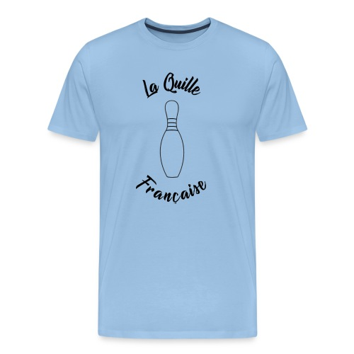 La quille Française Simple Noir - T-shirt Premium Homme