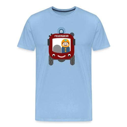 Lustiges Feuerwehrauto - Männer Premium T-Shirt