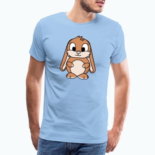 Lily Bunny - Appelsin - Premium-T-shirt herr