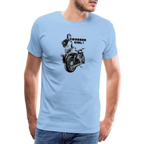 Bobber Girl Chopper Bikerin Vintage Motorrad Frau - Männer Premium T-Shirt