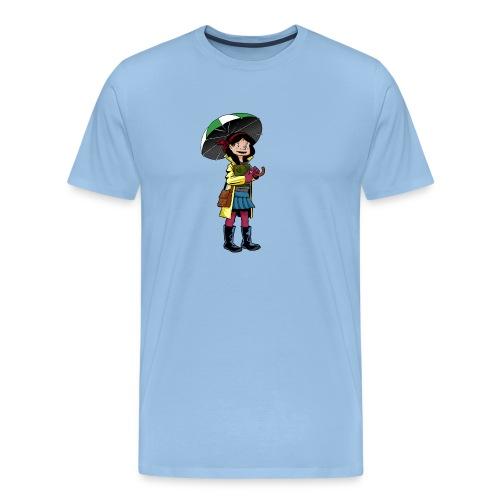 Chica con Paraguas - Camiseta premium hombre