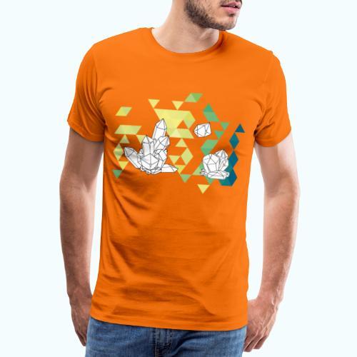 Geometric crystals - Men's Premium T-Shirt