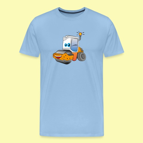 Baumaschine Straßenwalze Erdbau Bauarbeiter - Männer Premium T-Shirt