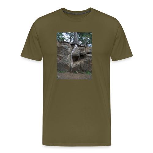 Juuret tukevasti maassa - Miesten premium t-paita