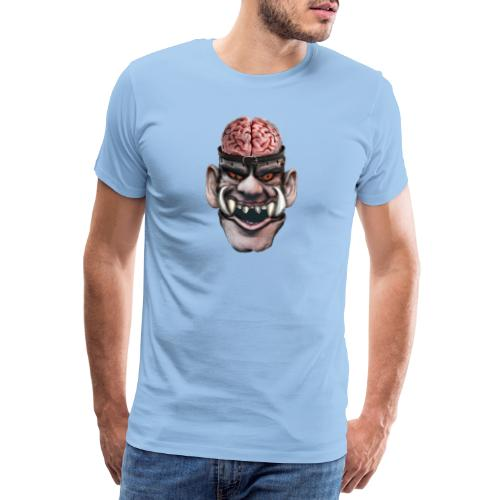 Big brain monster - Premium-T-shirt herr