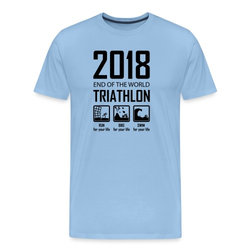 2018 End of the World Triathlon - Mannen Premium T-shirt