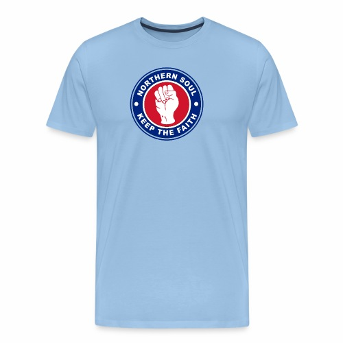 Norther Soul Keep the Faith Logo Union Flag Colour - Men's Premium T-Shirt