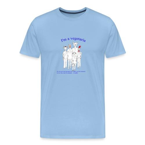 I am vegetaria - Männer Premium T-Shirt