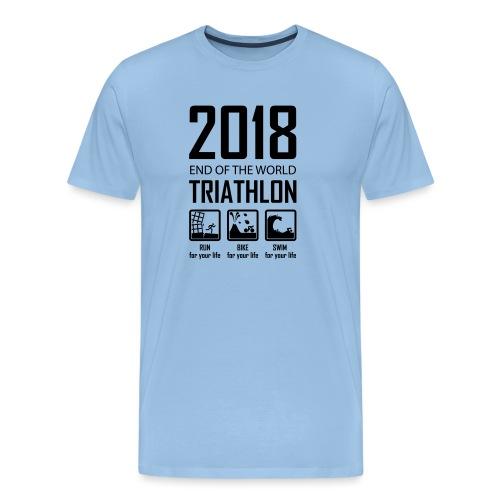 2018 End of the World Triathlon - Mannen Premium T-shirt