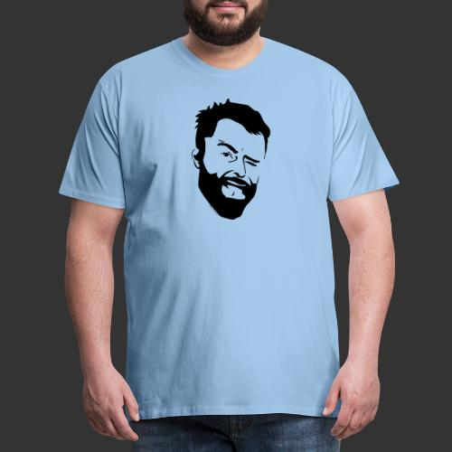 Baerenlust meets den echten Kerl mit Vollbart - Männer Premium T-Shirt